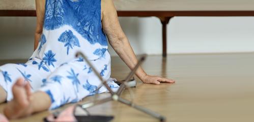 Senior woman who has fallen